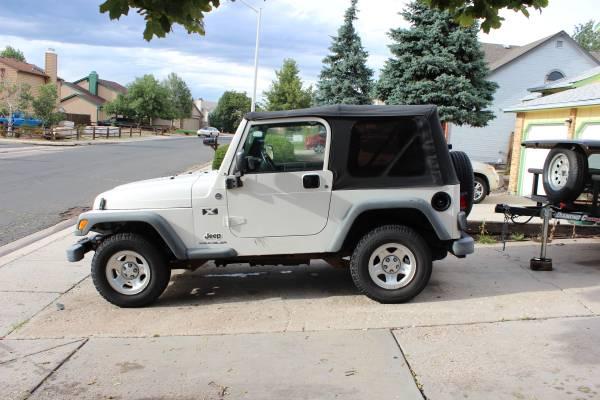 2005 jeep wrangler for sale in colorado springs colorado. Black Bedroom Furniture Sets. Home Design Ideas