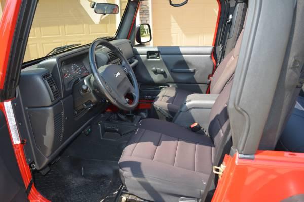 2005 jeep wrangler se manual for sale in acworth atlanta georgia for Jeep wrangler red interior for sale