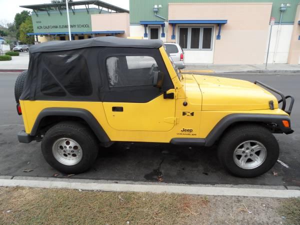 2005 jeep wrangler x for sale in van nuys california 10900. Black Bedroom Furniture Sets. Home Design Ideas