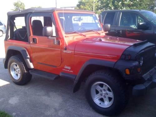 2005 jeep wrangler red sport for sale new orleans. Black Bedroom Furniture Sets. Home Design Ideas