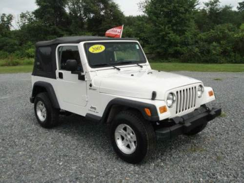 2005 jeep wrangler white sport for sale middletown delaware 14 995. Black Bedroom Furniture Sets. Home Design Ideas