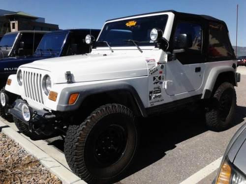 2005 jeep wrangler x white for sale monument denver colorado. Black Bedroom Furniture Sets. Home Design Ideas